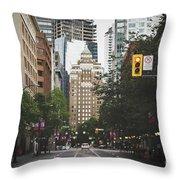 Granville Street Throw Pillow