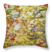 Grape Abundance Throw Pillow by PainterArtist FIN