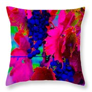Grape Acid Throw Pillow