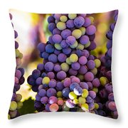 Grape Bunches Wide Throw Pillow