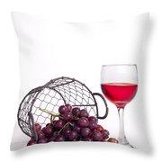 Grape Juice Throw Pillow