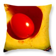 Grape Tomato And Avocado Throw Pillow