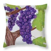 Grape Vine Throw Pillow