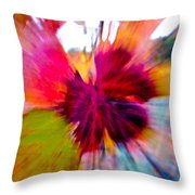 Grape Vine Burst Throw Pillow