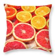 Grapefruit And Oranges Throw Pillow