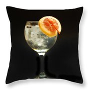 Grapefruit Gin Tonic Throw Pillow
