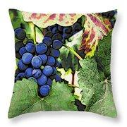 Grapes 3 Throw Pillow