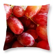 Grapes Throw Pillow by Les Cunliffe