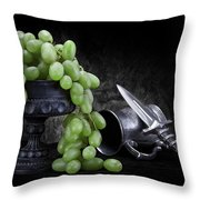 Grapes Of Wrath Still Life Throw Pillow
