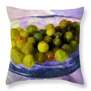 Grapes On The Half Shell Throw Pillow