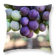 Grapes On Vine Throw Pillow