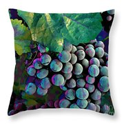 Grapes Painterly Throw Pillow