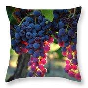 Grapes With Bokeh Throw Pillow