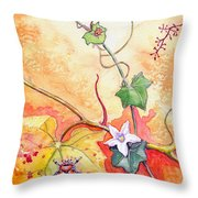 Grapevine Beetle Throw Pillow