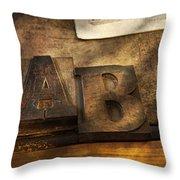 Graphic Artist - Ab Throw Pillow