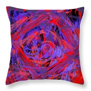 Graphic Explosion Throw Pillow