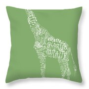Graphic Giraffe Throw Pillow