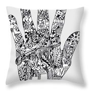 Graphic Hand Throw Pillow