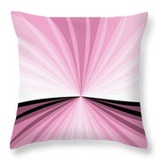 Graphic Pink And White Throw Pillow