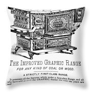 Graphic Range, 1875 Throw Pillow