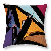 Graphite From India Throw Pillow
