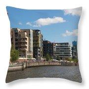 Grasbrookhafen Hamburg Hafencity Throw Pillow