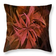 Grass Abstract - Fire Throw Pillow