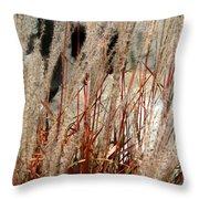 Grass Abstract Throw Pillow