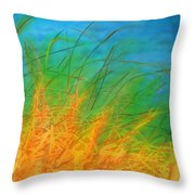 Grass Along The River Throw Pillow
