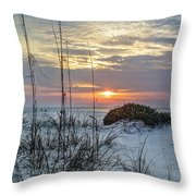 Grass And Mound Sunrise Throw Pillow