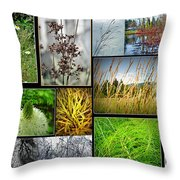 Grass Collage Variety Throw Pillow