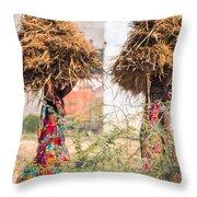Grass Cuttings Throw Pillow
