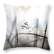 Grass Heavy With Raindrops Throw Pillow