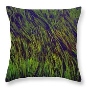 Grass In The Lake Throw Pillow