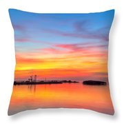 Grass Islands Of The Gulf Throw Pillow