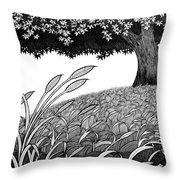 Grass Of The Earth Throw Pillow