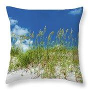 Grass On The Beach, Bill Baggs Cape Throw Pillow
