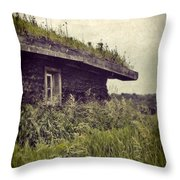 Grass Roof On Cottage Throw Pillow