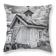 Grass Roof Shed Throw Pillow