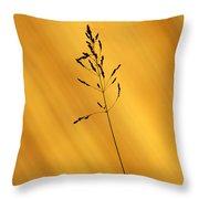 Grass Silhouette Throw Pillow