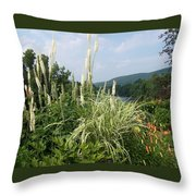 Garden Over A River Throw Pillow