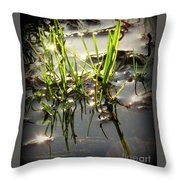 Grasses In Water Throw Pillow
