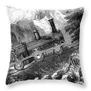 Grassi Locomotive, 1857 Throw Pillow
