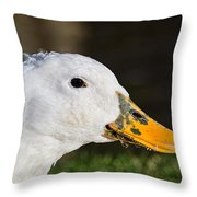 Grassy-bill Duck Throw Pillow