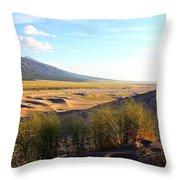 Grassy Dune Throw Pillow