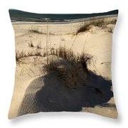 Grassy Dunes Throw Pillow by Adam Jewell