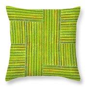 Grassy Green Stripes Throw Pillow