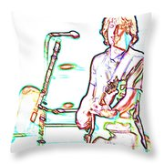 Grateful Dead - Bob Weir - Looks Like Rain Throw Pillow