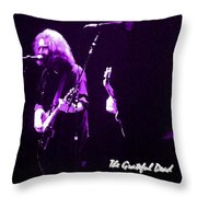 Grateful Dead In Purple - Concerts Throw Pillow