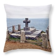 Grave Of Chateaubriand Throw Pillow